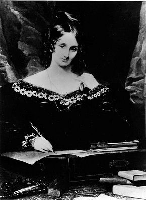 Mary Shelley escribiendo